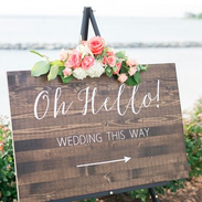Ceremony this way sign.