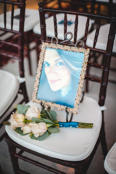 The bride's deceased sister, Jessica.