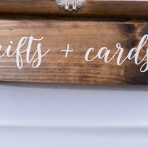 Wooden Gifts and Cards Sign