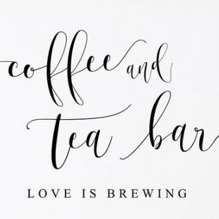 Coffee and Tea Bar Sign