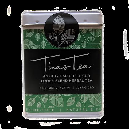 ANXIETY BANISH + CBD LOOSE BLEND HERBAL TEA