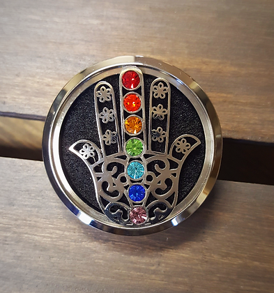 Hand With Chakra Crystals Car Diffuser