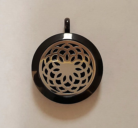 Black and Silver Spiral Aroma Charm