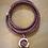 Thumbnail: Purple Leather Wrap Bracelet w/ Silver Lotus Flower Aroma Diffusing Charm
