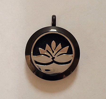 Black and Silver Lotus Aroma Charm