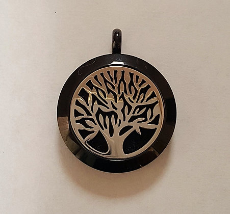 Black and Silver Tree of Life Aroma Charm