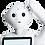 Robot humanoide Pepper avec la main sur la tête qui réfléchit