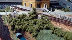 diorama con passaggio a livello