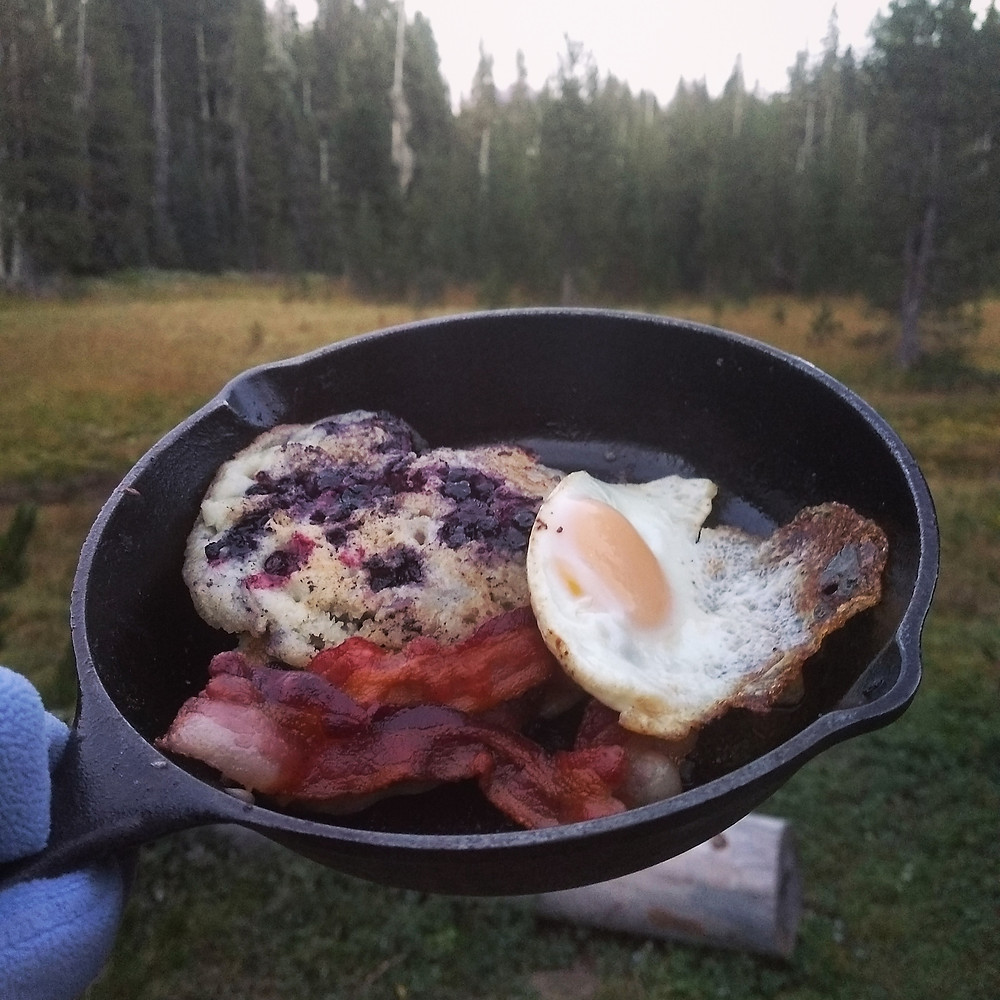 ...and when life gives you too many huckleberries, eat huckleberry pancakes in a nice meadow somewhere. :)