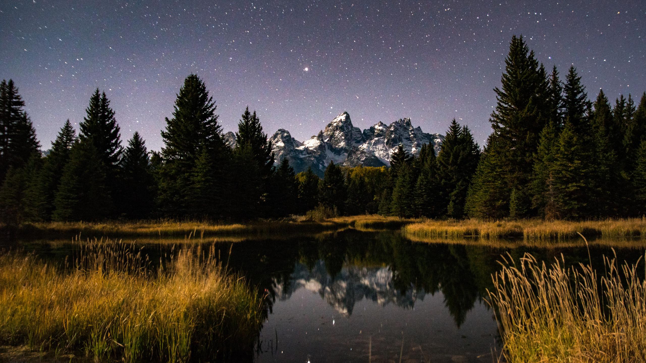 Moonlit Night at Schwabacher Landing