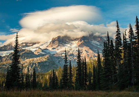 """Cloud Capped Mount Rainier"""