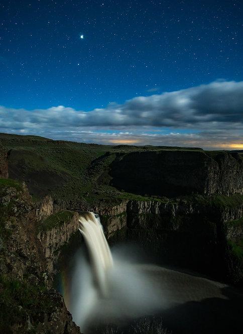 """""""Jupiter and a Moonbow at Palouse Falls"""""""