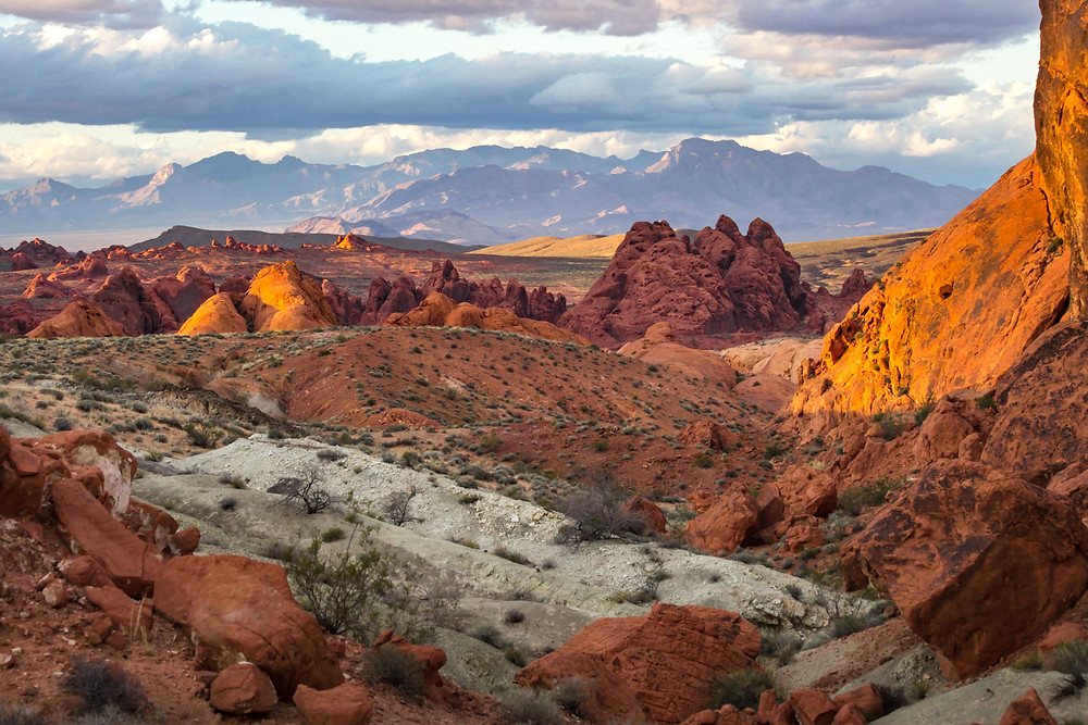 Golden hour at Valley of Fire State Park