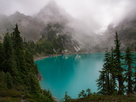 """Type 2 Fun"" - a Rainy Backpacking Adventure to an Alpine Lake"