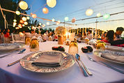 Table setting for an event party or wedd