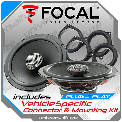 "Focal 6.5"" Polyglass ICU165 165 Rear Speaker kit"