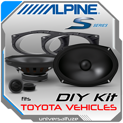 Alpine 6x9 Component Type S speaker kit for Toyota