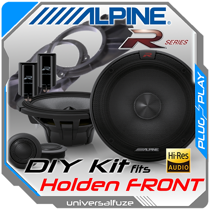 Alpine Type R Hi Res Front speaker kit for Holden Commodore