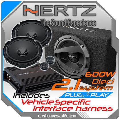 Hertz 2.1 system. Splits, Sub, Amp DIY package