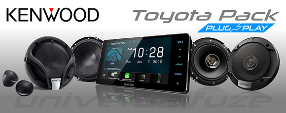 "Kenwood 6 speaker pack + 7"" HD Screen for Toyota plug and play"