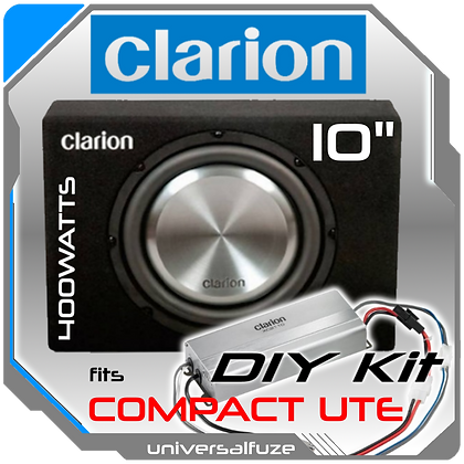 """Clarion 10"""" Compact subwoofer/amp Pack"""