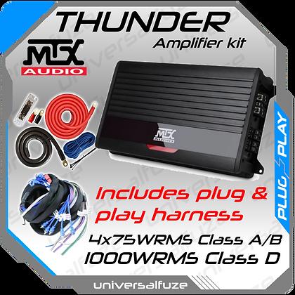 MTX Thunder 1 x 1000WRMS Amplifier kit