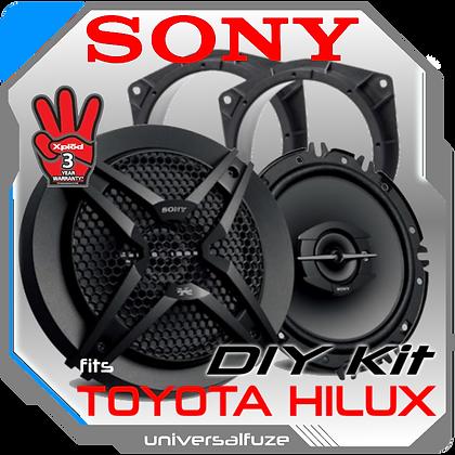 "Sony 6.5"" Rear Speaker Pack for Toyota Hilux"