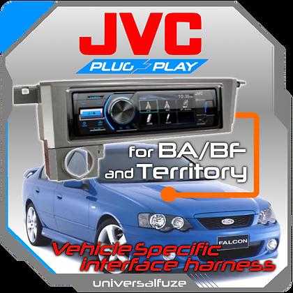 JVC Bluetooth USB upgrade kit for Ford Falcon BA/BF