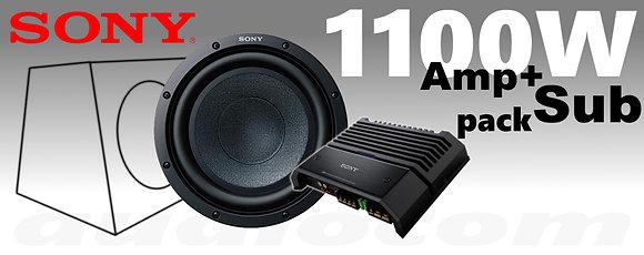Sony XS 1100W 30cm Sub + Amp Pack