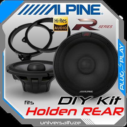 Alpine Type R Hi Res Rear speaker kit fits Holden Commodore