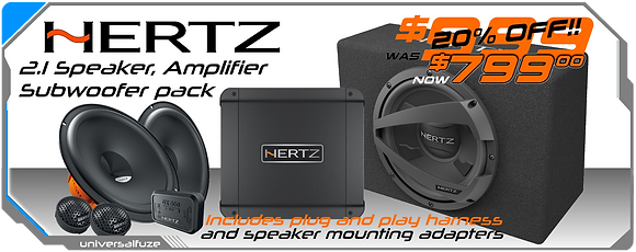 Hertz Dieci 2.1 Amplifier, Speaker, Subwoofer package DIY