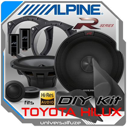 Alpine Type R Hi Res Toyota Hilux Front speaker pack
