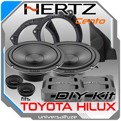 HERTZ Cento PRO High power Front speakers for Toyota Hilux