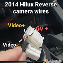 2014 Hilux reverse camera wires