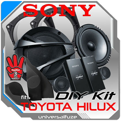 "Sony 6.5"" Front Speaker Pack for Toyota Hilux"