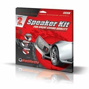 Ballistic sound deadening speaker kit
