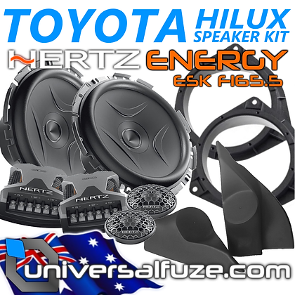 TOYOTA HILUX Custom fit HERTZ ENERGY Speaker Pack