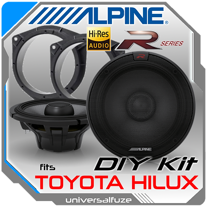 Alpine Type R Hi Res Toyota Hilux Rear speaker pack