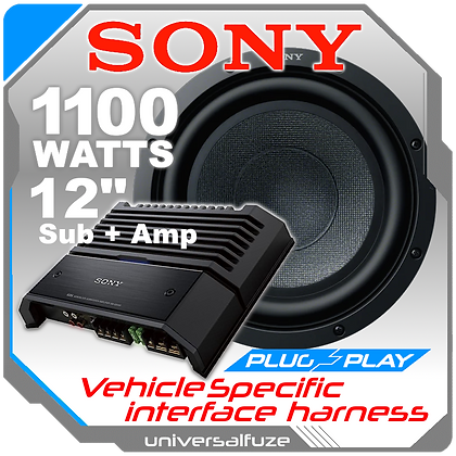 """Sony 12"""" 1100W Sub and amp pack"""
