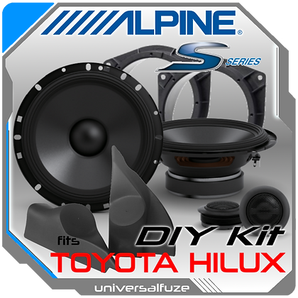 "TOYOTA HILUX Custom fit ALPINE 6.5"" S Front Speaker Pack"