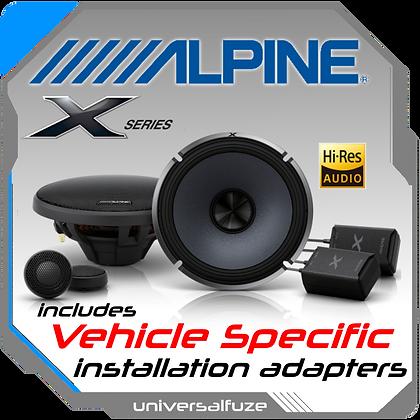 "ALPINE 6.5"" X-S65C Front Speaker kit"