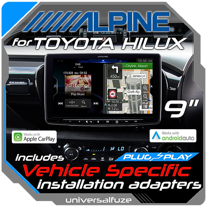 "Alpine 9"" Multimedia upgrade DIY kit for Toyota Hilux"