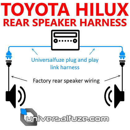 Rear speaker add-on harness fits Toyota Hilux