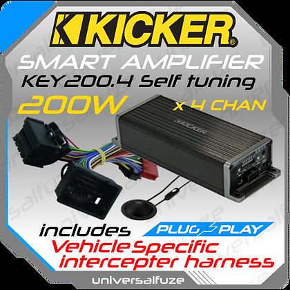 Kicker Smart plug and play amplifier KEY200.4