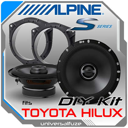 Alpine Type S Toyota Hilux rear speaker pack