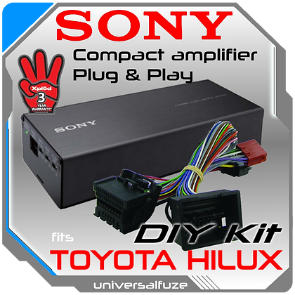 Sony 4x100 Watt Toyota plug & play amplifier