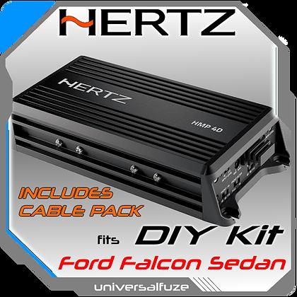 Hertz HCP 4D 4 Channel Amplifier + Ford Sedan Cable Kit