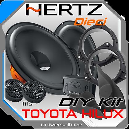 """TOYOTA HILUX Custom fit HERTZ 6.5"""" Front Speaker Pack"""