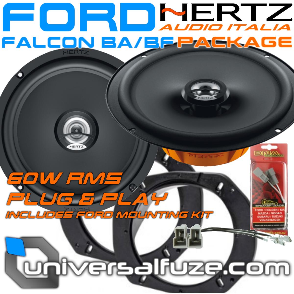 Ford Falcon/Territory Hertz Speaker upgrade pack