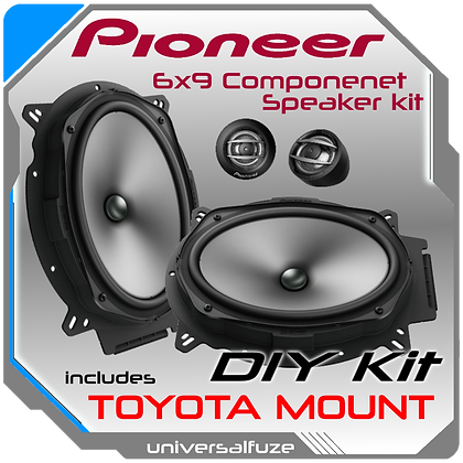 Pioneer 6x9 Component speaker DIY kit for Toyota